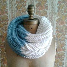 Knitting Pattern Infinity Scarf Cowl Instant PDF by ILiveonaFarm Crochet Scarves, Crochet Shawl, Knit Crochet, Hand Crochet, Knitted Fabric, Crochet Bikini, Knitting Patterns, Crochet Patterns, Infinity Scarf Knitting Pattern
