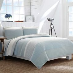 Nautica® Cliffwood Quilt in Seafoam - BedBathandBeyond.com. Shams out of stock. No bed skirt.