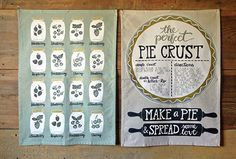 Pie and Berries Tea Towels by @1canoe2 #kitchen #pie