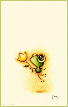 Frog art by faboarts found on https catchoocutiepie wordpress com