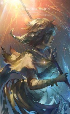 Dark Souls,фэндомы,Demon& Souls,Maiden in Black,DS art Cute Characters, Fantasy Characters, Fictional Characters, Character Concept, Concept Art, Character Ideas, Dark Souls Art, Dark Witch, Darkest Dungeon