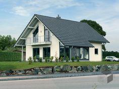 FLAIR 400 (BV Pakura) von FingerHaus  ➤ Klick auf das Bild, um zu unserer großen Auswahl an Fertighäusern zu gelangen auf _____ www.Fertighaus.de _____ Einfamilienhaus, Fertigteilhaus, Eigenheim, Fertigbau, Haustypen, Hausbau, Architektur, Satteldach