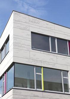 Printed EQUITONE facade panels on Greifswald School. arch: Frank.Milenz.Rabenseifner. equitone.com