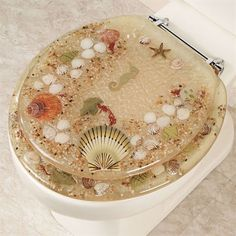 gold toilet seat cover. Jewel Shell Toilet Seat Gold Foil Standard  and Future