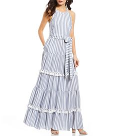 Shop for Eliza J Stripe Halter Tiered Tassel Maxi Dress at Dillards.com. Visit Dillards.com to find clothing, accessories, shoes, cosmetics & more. The Style of Your Life.