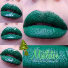 JSC MISTLETOE LIPPIE Green Lipstick, Velour Liquid Lipstick, Aqua, Teal, Turquoise, Jeffree Star, Mistletoe, Blue Green, Cosmetics