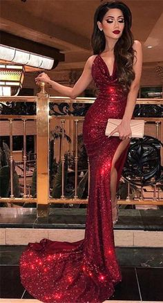 Spaghetti Straps Dark Red Sequin Mermaid Cheap Long Evening Prom Dresses, Evening Party Prom Dresses, 12305 - Beauty is Art Sparkly Prom Dresses, Backless Prom Dresses, Mermaid Prom Dresses, Prom Party Dresses, Red Prom Dress Sparkly, Dresses Dresses, Quinceanera Dresses, Ball Dresses, Maternity Dresses