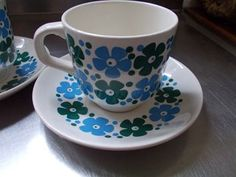 Flower Power Crown Lynn Tea For Two, love the blue