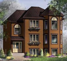 - 80589PM | 1st Floor Master Suite, CAD Available, Canadian, Metric, PDF, Sloping Lot | Architectural Designs