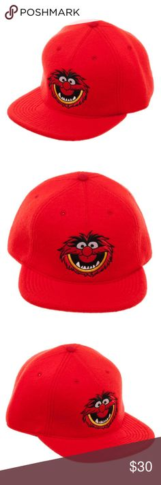 Disney Muppets ANIMAL Snapback Hat Adult Red Felt This is for 1 Muppets themed snapback hat.  This very nice hat is officially licensed from Bioworld.  It is red and features Animal on the front.  The hat is size adjustable.    Style: Snapback Hat  Size:  Adjustable - One Size Fits Most Adults Brand: Bioworld Materials:  Polyester, Wool, Cotton Blend  Intended for Ages 14 and Up.  CONDITION - New  Check out my Posh for more Snapback Hats! Bioworld Accessories Hats
