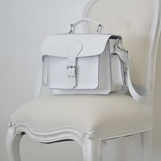 White Leather Camera Bag by Grafea www.grafea.co.uk