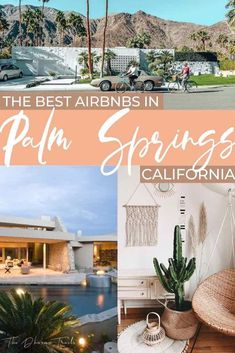 Looking for the best places to stay in Palm Springs California? Here are 12 dreamy airbnbs, whether you want Art Deco style, bohemian vibes, or a dome in the desert!#palmsprings #unitedstates #travel Usa Travel Guide, Travel Usa, Travel Guides, Travel Tips, Palm Springs California, California Travel, Southern California, Us Road Trip, Amazing Destinations