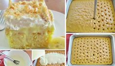 Hľadali ste banán - Page 5 of 64 - To je nápad! No Salt Recipes, Desert Recipes, Vanilla Cake, Ham, Food And Drink, Ice Cream, Pudding, Sweets, Bread