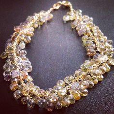 Colour Diamond Briolette Bracelet. Colored Diamonds, Pearl Necklace, Stones, Jewellery, Colour, Pearls, Bracelets, Inspiration, Necklaces