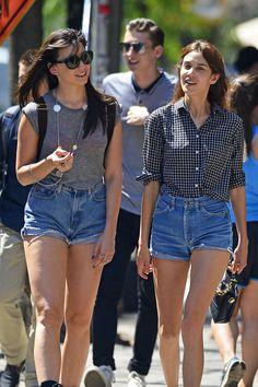 alexa-chung-short-jean | Fashion & Style | Pinterest | Jeans