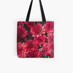 Bold and Bright Chrysanthemum Fine Art Photo Canvas Tote Bag Book Bag Market Bag tote