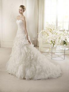 Magnifique robe de mariée San Patrick taille 38 blanche naturelle neuve jamais porté