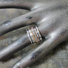 18484-Ring zilver en gold filled