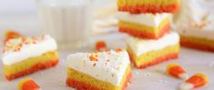Cookie Recipes - These festive sugar cookie bars are sure to impress. You won't believe how quickly they come together!