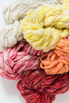 Pixie Dust yarn by Knit Collage ~ beautiful handspun bulky, chunky yarn. #uniqueyarn, #knitspiration, #chunkyknits, #handspun,