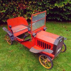 Ford Model T Pedal Car.  To see more pictures of this pedal car be sure to visit Chasing Pedal Cars Facebook Page