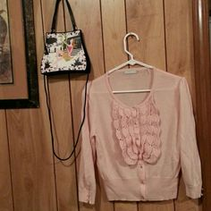 Badgley  mischka beautiful  pink sweater Soft.comfy.pink  wool sweater  size  large Badgley Mischka Sweaters