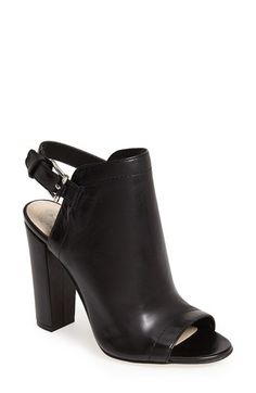 Free shipping and returns on Vince Camuto 'Vamelia' Open Toe Leather Bootie (Women) at Nordstrom.com. An alluring back cutout heightens the impeccable modern elegance of an open-toe leather bootie.
