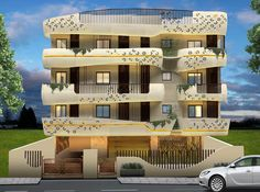 contemporary mixed use apartment complex Mixed Use Development, Apartment Complexes, Futuristic, Architects, Smooth, Contemporary, Mansions, Interior Design, House Styles