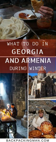 Georgia and Armenia travel   Going to Georgia or Armenia in winter? The high mountainous areas will mostly be closed except for skiing so these are some alternative things you can get up to. #Travel #travelblogger #Ageorgia #Armenia