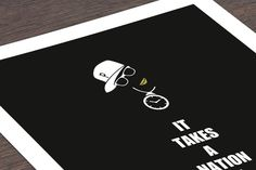 Digitaldruck - It Takes A Nation Of Millions - ein Designerstück von DiplomatOfStyle bei DaWanda