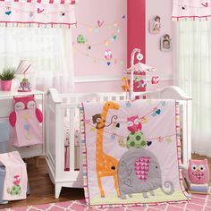 Lambs & Ivy Sprinkles 5 Piece Baby Nursery Crib Bedding Set with Bumper NEW Baby Crib Bedding Sets, Girls Bedding Sets, Baby Nursery Bedding, Crib Sets, Baby Cribs, Girl Nursery, Kohls Bedding, Safari Nursery, Comforter Set