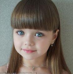 Anastasia Knyazeva, six, has been hailed the 'most beautiful girl in the world' on Instagr...