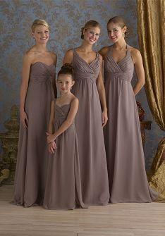 Sheath Floor-length Chiffon Bridesmaid Dress Style BD80792