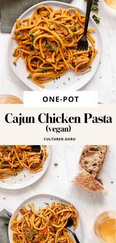 Vegan Dinner Recipes, Delicious Vegan Recipes, Vegan Dinners, Whole Food Recipes, Easy Pasta Recipes, Easy Healthy Recipes, Vegan Pasta, Vegan Food, Lunch Ideas