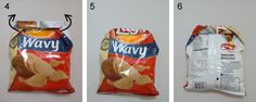 Chip Bag Origami Fold - this may seem a little silly - but useful and silly usually go together I find