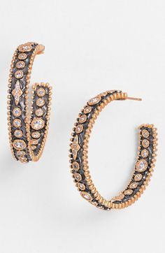 Freida Rothman Inside Out Hoop Earrings available at #Nordstrom
