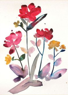Island Floral Watercolor - No. 2