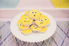 Monster Cookies from a Modern Geometric Monster Party via Kara's Party Ideas KarasPartyIdeas.com (17)