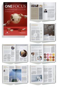 Bank Of New York Mellon magazine layout
