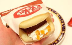 Kit Kat, whipped cream and orange? That's our kind of sandwich.