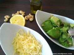 Avocado-Pesto Guacamole, Avocado Pesto, Sprouts, Meals, Fresh, Vegetables, Wordpress, Food, Noodles