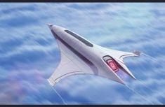 future, Futuristic Aircraft, Scifi Luxury Liner, AdamKop, future airplane, futuristic vehicle, concept art, digital art by FuturisticNews.com
