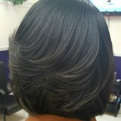 60 Ideas For Hair Cuts Bob African American Layered Bob Hairstyles For Black Women, Black Bob Hairstyles, Short Layered Haircuts, African Hairstyles, Straight Hairstyles, Relaxed Hairstyles, Bob Haircuts, Black Hair Layers, Medium Length Hair With Layers