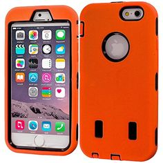 """myLife Hybrid Shock Absorbing {Built In Screen Protector} Case for iPhone 6 (6G) 6th Generation Phone by Apple, 4.7"""" Screen Version {Sunrise Orange + Tire Black """"Hybrid Design"""" Neo Hybrid Three Piece with Layered Flex Gel SECURE-Fit Armor} myLife Brand Products http://www.amazon.com/dp/B00QJ4FUDI/ref=cm_sw_r_pi_dp_82HHub0Y6CPMD"""