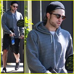 Rob leaving the gym in LA, 4-6-15 (1)