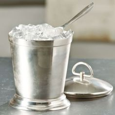 """Want this with a """"D"""" ! Great for entertaining.  Southern Living Antiqued Silver Ice Bucket W/Scoop 