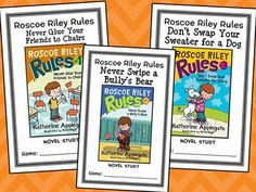 Roscoe Riley Rules BUNDLE (Katherine Applegate) 3 Novel Studies for Books #1-3 * Follows the Common Core Standards *  This Roscoe Riley Rules BUNDLE contains 3 Novel Studies from the Roscoe Riley Rules series by Katherine Applegate. In total, there are 71 pages. Each Novel Study is in booklet-style format.