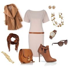 love the dress and accessories minus the coat and shoes