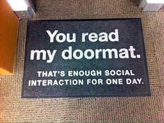 """Got a new doormat today ... Today is #fun day. Get biggest #funny #memes #funny_memes #funny_gif #funny_pictures #funny_photos #funniest in here. Get #humor Pic in here. So Follow """"Holy Nurse"""" Today."""