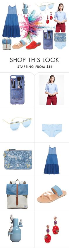 """random fashion"" by racheal-taylor ❤ liked on Polyvore featuring Givenchy, Iphoria, Brooks Brothers, Le Specs, Cosabella, Jérôme Dreyfuss, M.i.h Jeans, Herschel Supply Co., Ancient Greek Sandals and Lladró"